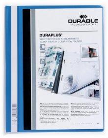 Skoroszyt plastikowy Duraplus Durable, A4, prezentacyjny, niebieski