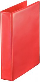 Segregator prezentacyjny Esselte Panorama, A4, szerokość grzbietu 63mm, do 380 kartek, 4 ringi, czerwony