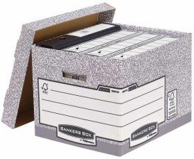 Pudło archiwizacyjne Fellowes FastFold, 4x80mm, szary