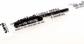 Wkład żelowy UMR-5 do pióra Uni UM-100, 0.5mm, czarny