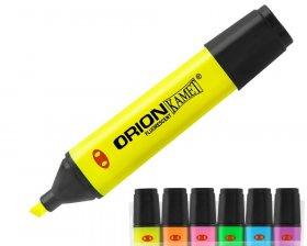 Zakreślacz Kamet, Orion, ścięta, 6 sztuk, 5mm, mix kolorów