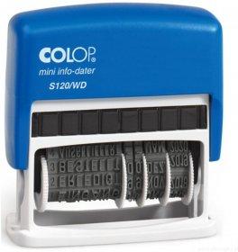 Datownik z hasłami Colop S 120 WD, wersja cyfrowa, niebieski