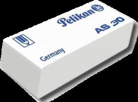 Gumka ołówkowa Pelikan AS30, 50x19x12mm, biały