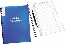 Teczka do akt osobowych Warta, A4, z bindą zewnętrzną, niebieski