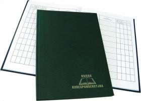 Księga korespondencyjna Warta, A4, 192 karty, zielony