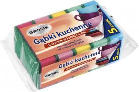 Gąbka kuchenna Grosik, 11x7cm, 5 sztuk, mix kolorów