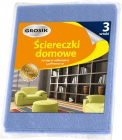 Ściereczka domowa Grosik, uniwersalna, 32x38cm, 3 sztuki, mix kolorów