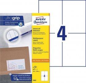 Etykiety uniwersalne Avery Zweckform, 105x148mm, 100 arkuszy
