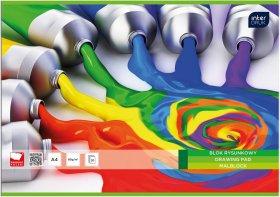 Blok rysunkowy Interdruk Economy, A4, 20 kartek, biały