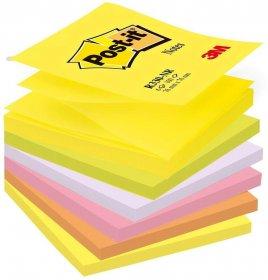 Notes samoprzylepny Post-it, harmonijkowy, 76x76mm, 6x100 karteczek, mix kolorów neonowych