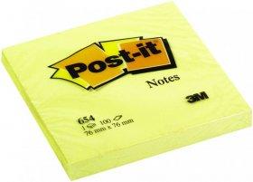 Notes samoprzylepny Post-it, 76x76mm, 100 karteczek, żółty pastelowy
