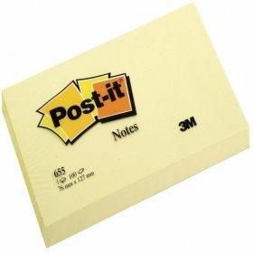 Notes samoprzylepny Post-it, 76x127mm, 100 karteczek, żółty pastelowy