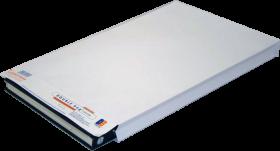 Koperta rozszerzana Double Bag E-DS-220, dwuwarstwowa, z paskiem HK, 280x440x60mm, 20 sztuk, biały