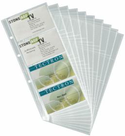 Wkłady do wizytownika Durable, Visifix, na 80 wizytówek, transparentny