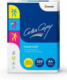 Papier satynowany Mondi Color Copy, A4, 220g/m2, 250 arkuszy, biały