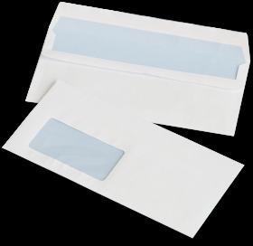 Koperta standardowa NC, DL, samoklejąca SK, okno lewe, 1000 sztuk, biały