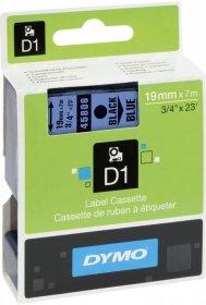 Taśma Dymo D1, 19mm x 7m, nadruk czarny, niebieska