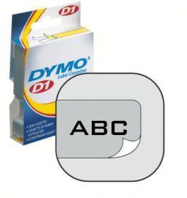 Taśma Dymo D1, 19mm x 7m, przezroczysty nadruk, taśma-biała