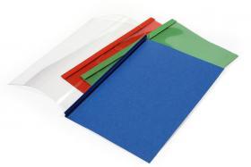 Okładki do termobindownic Argo, A4, 4mm, do 40 kartek, 100 sztuk, czerwony