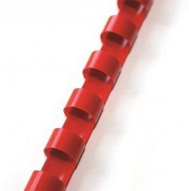 Grzbiety plastikowe do bindowania Argo, 10mm, 100 sztuk, czerwony
