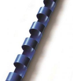 Grzbiety do bindowania Argo, plastik, 10mm, 100 sztuk, niebieski