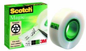 Taśma klejąca Scotch Magic 810, 19mmx33m, przezroczysty matowy