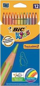 Kredki ołówkowe Bic TropiColors, 12 kolorów