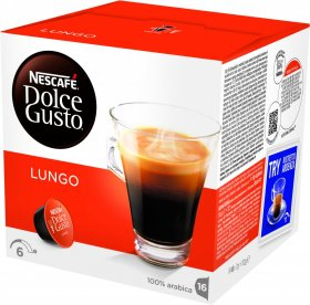 Kawa w kapsułkach Nescafé Dolce Gusto Caffe Lungo, 16 sztuk