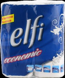Ręcznik papierowy kuchenny Elfi, 2-warstwowy, w roli, 2x9.3m, 2 rolki, biały