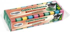 Gąbka kuchenna Grosik, 7.5x6x2.9cm, 10 sztuk, mix kolorów