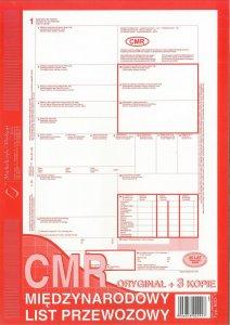 Druk akcydensowy CMR Międzynarodowy list przewozowy MiP, A4, 3 kopie, 80k