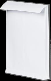 Koperta rozszerzana, Rayan, C4, z paskiem HK, 10 sztuk, biały