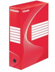 Pudło archiwizacyjne Esselte Standard, do luźnych dokumentów, 100mm, czerwony