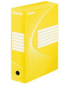 Pudło archiwizacyjne Esselte Standard, do luźnych dokumentów, 100mm, żółty