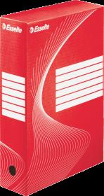 Pudło archiwizacyjne Esselte, do luźnych dokumentów, 80mm, czerwony