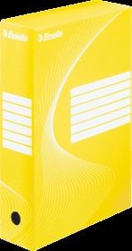 Pudło archiwizacyjne Esselte, do luźnych dokumentów, 80mm, żółty