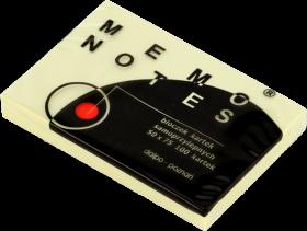 Notes samoprzylepy Dalpo Memo Notes, 50x75mm, 100 karteczek, żółty pastelowy