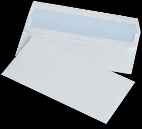 Koperta standardowa NC, DL, samoklejąca SK, 1000 sztuk, biały