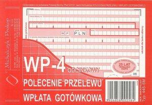 Druk akcydensowy Polecenie przelewu/wpłata gotówkowa MiP, A6, 3 kopie, 80k