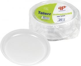 Talerze jednorazowe PP Professional, 22cm, 100 sztuk, biały