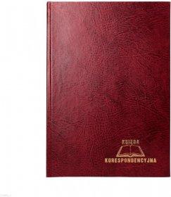 Księga korespondencyjna Warta, A4, 192 karty, bordowy
