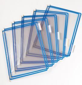 Panele informacyjne, Tarifold, A4, 10 sztuk, niebieski