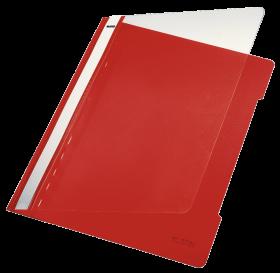 Skoroszyt plastikowy bez oczek Leitz, A4, do 250 kartek, czerwony