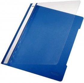 Skoroszyt plastikowy bez oczek Leitz, A4, do 250 kartek, niebieski