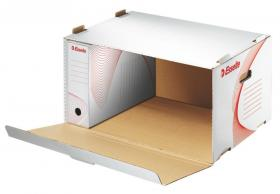 Pudło archiwizacyjne zbiorcze Esselte, 540mm, do 5 pudeł 100mm, otwierane z przodu, biały