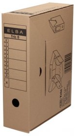 Pudło archiwizacyjne Elba Tric 0, A4, 95mm, brązowy