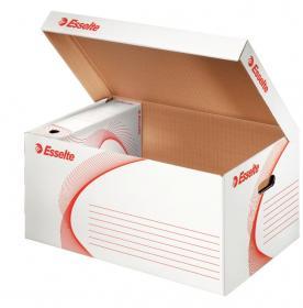 Pudło archiwizacyjne zbiorcze Esselte, 550mm, do 5 pudeł 100mm, otwierane od góry, biały