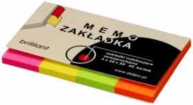 Zakładki samoprzylepne Dalpo proste, indeksujące, papier, 20x50mm, 4x40 sztuk, mix kolorów