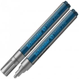 Marker olejowy Schneider, Maxx 270, okrągła, 1-3 mm, srebrny