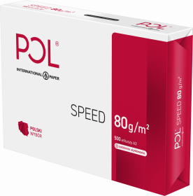 Papier ksero Polspeed, A3, 80g/m2, 500 arkuszy, biały